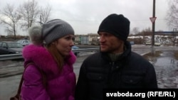 Сяргей Каваленка разам з жонкай Аленай