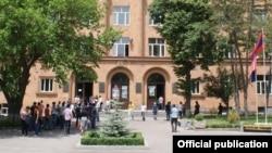 Здание Национального политехнического университета Армении (архив)