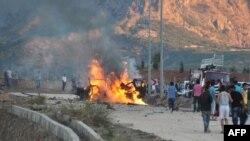 Makinat e përfshira nga zjarri në Tunxheli të Turqisë