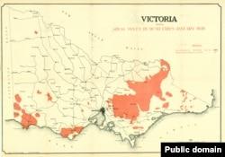 Мапа пажараў у 1939 годзе