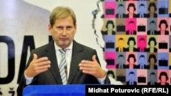 Комиссар по вопросам расширения ЕС Йоханнес Хан.