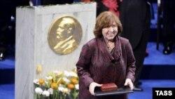 Белорусская писательница Светлана Алексиевич.