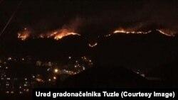 Požar na brdima iznad Tuzle
