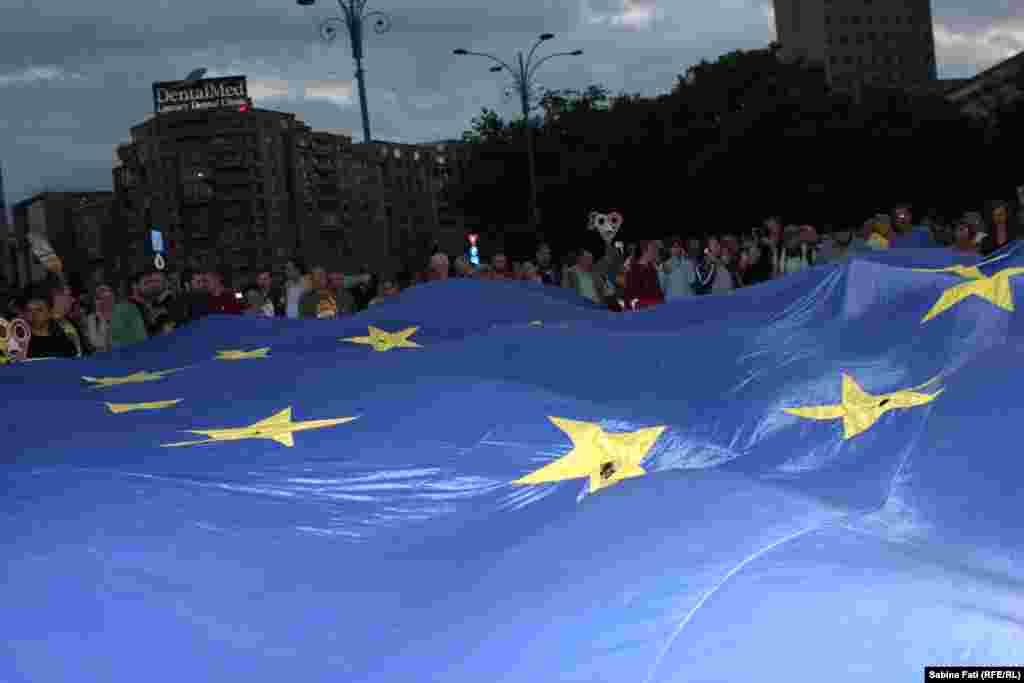 Ștafeta steagului european, București, 12 mai 2018