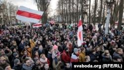 Сьвяткаваньне 100 год Беларускай Народнай Рэспублікі ў Менску, 25 сакавіка 2018