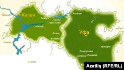 Татарстан һәм Башкортстан хариталары