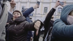 'The Shame Of Russia': Protesters Vent Anger At State-Run TV
