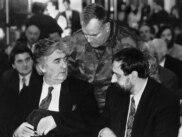 Radovan Karadžić, Ratko Mladić i Goran Hadžić na Palama, januar 1993.