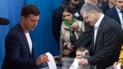 Poroshenko And Zelenskiy Cast Ballots In Presidential Runoff Vote