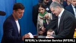 Владимир Зеленский и Петр Порошенко – второй тур президентских выборов, 21 апреля 2019 года