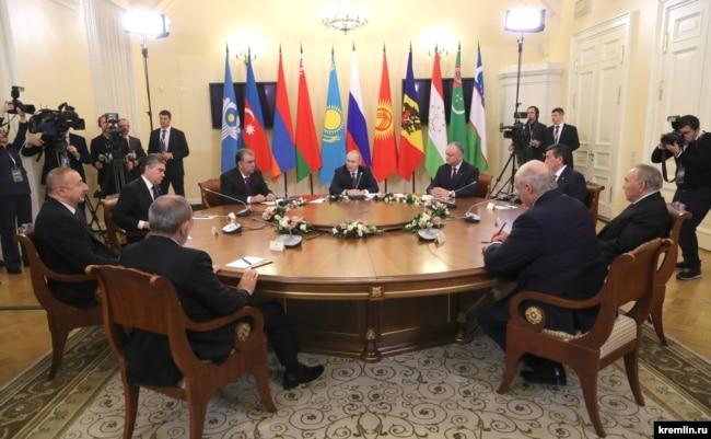 Встреча глав стран СНГ 20 декабря 2019 г.