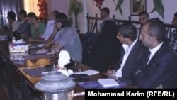 جانب من المؤتمر الصحفي لمعهد الحرب والسلام