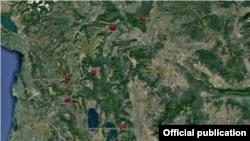 Локации на поставените мали хидроелектрани во Македонија.