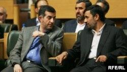 "Has Iranian President Mahmud Ahmadinejad (right) already found his ""Medvedev"" in Vice President Esfandiar Rahim Mashaei?"