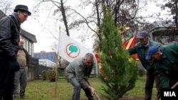 """Акцијата """"Ден на дрвото"""" во Македонија."""