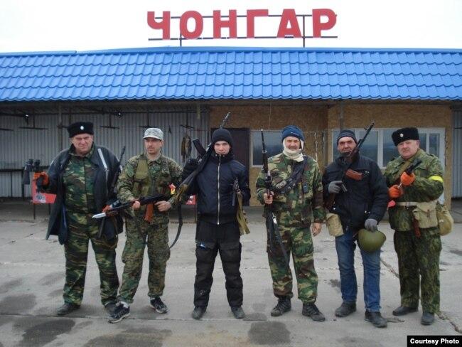 Евгений Панчук и другие казаки в Крыму