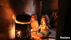 Сирийские дети в окрестностях Дамаска. Иллюстративное фото.