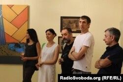 Художники на відкритті виставки