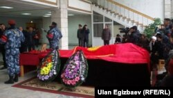 Төлөбек Исмаиловду акыркы сапарга узатуу. Бишкек, 23-октябрь, 2015-жыл.