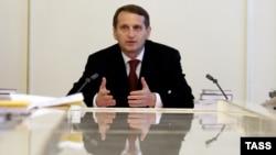 Глава администрации президента России Сергей Нарышкин