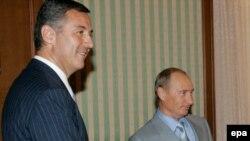 Milo Đukanović i Vladimir Putin, foto iz arhive