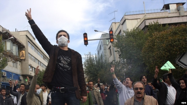 Opposition protesters in Tehran