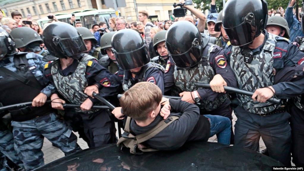 Задержания протестующих 9 сентября 2018 года