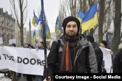Андрій Меаковський на Майдані