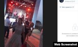 Супруга Леонида Бабашова на вечеринке в честь 10-летия ООО «Альт-Эра»