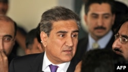 Pakistani Foreign Minister Shah Mehmood Qureshi spoke to reporters before his U.S. visit.