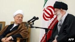 Akbar Hashemi Rafsanjani və Ali Khamenei