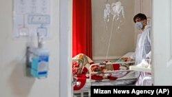 Իրան - Թեհրանի հիվանդանոցներից մեկում բուժում են կորոնավիրուսով վարակվածին, 1-ը մարտի, 2020թ.