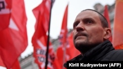 Russian left-wing opposition leader Sergei Udaltsov (file photo)