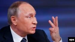 Орусия -- Президент Владимир Путин маалымат жыйынында. Москва, 17-декабрь, 2015.