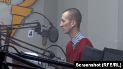 Олександр Кольченко в студії Радіо Свобода у Празі