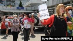 Protest protiv poziva na linč Vanje Ćalović, jun 2014