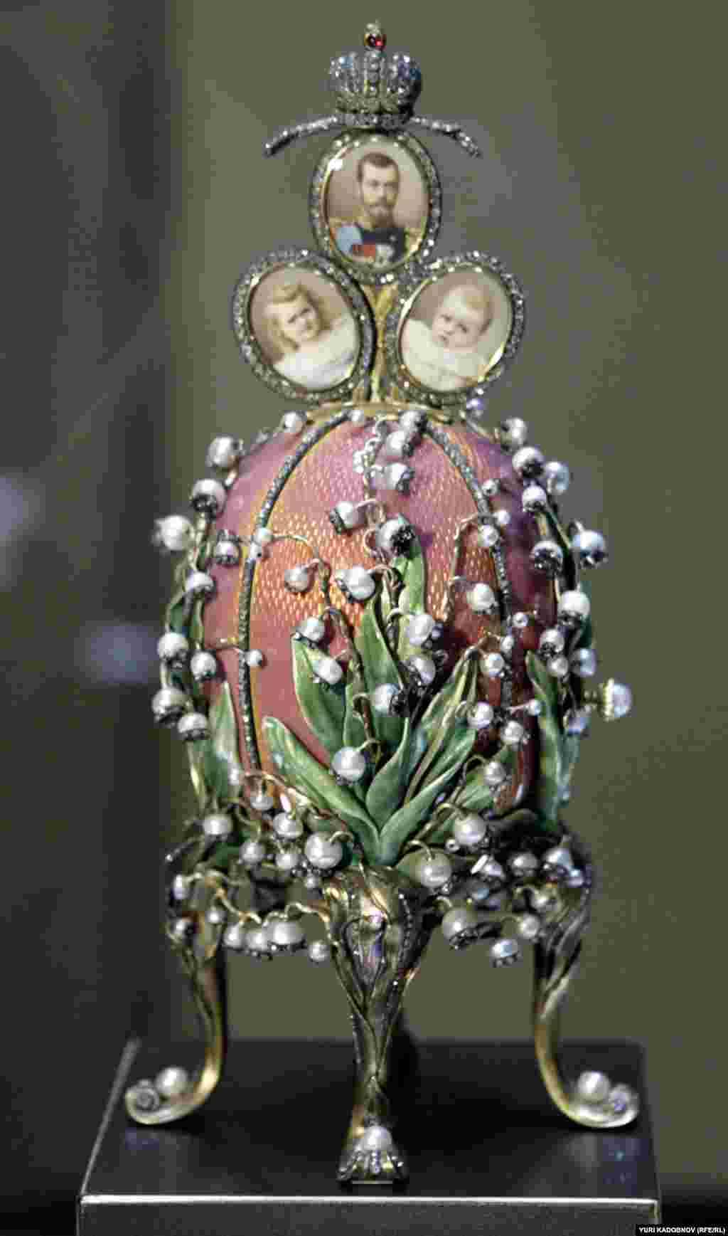 The Lilies of the Valley Egg of 1898, featuring the tsar and his first two daughters. After the 1917 revolution, Faberge fled Russia disguised as a diplomat. He died in exile in Switzerland in 1920. Faberge's imperial eggs stand today as a symbol of the decadence, as well as the taste and the elegance of an age the likes of which might never be seen again.