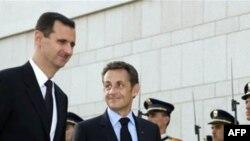 نيکلا سارکوزی، رییس جمهوری برای سفره دو روزه ای به دمشق سفر کرده است. (عکس از AFP)