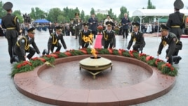The eternal flame in Bishkek