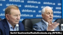 Леонид Кучма (л) и Леонид Кравчук