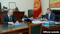 Илим Карыпбеков жана Алмазбек Атамбаев