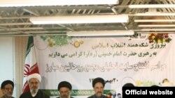 اعضای مجمع روحانیون مبارز از راست: مجید انصاری، محمدعلی ابطحی، محمد موسوی خوئینی، محمد خاتمی، موسوی بجنوردی.