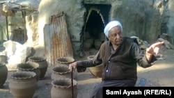 Iraq - Pottery maker Al-Hajj Ali Hussein and his pottery products, Diyala, 15Jan2014