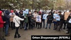 Санкционированный митинг в Нур-Султане за политические реформы и переход к парламентской форме правления в Казахстане. 9 ноября 2019 года.