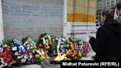 Vječna vatra, spomenik napravljen 6. aprila 1946. na godišnjicu oslobođenja Sarajeva u Drugom svjetskom ratu je jedan od simbola antifašizma u BiH