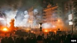Київ, вулиця Грушевського, 21 січня 2014 року