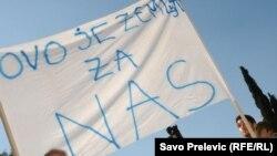 Sa jednog od nekoliko protesta u Podgorici u posljednjih pola godine