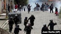 Sukob pristalica Eva Moralesa i policije, 11. novembra u La Pazu