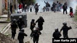 Боливия президенті сайлауының ресми нәтижесін мойындамағандар қарсылыққа шықты. Ла - Пас. 11 қараша 2019 жыл.