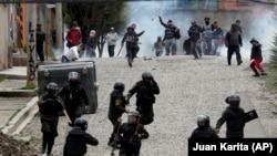 Столкновения сторонников экс-президента Боливии Эво Моралеса с полицией.